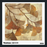 """Gingko Wall Decal<br><div class=""""desc"""">&#169; Albena Hristova / Wild Apple.  An image of brown leaves and its branch. The background is in shades of brown and tan.</div>"""