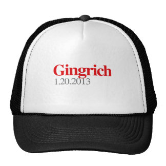 GINGRICH 1-20-2013 TRUCKER HAT