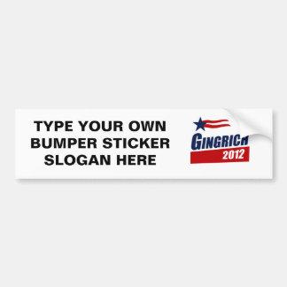 GINGRICH 2012 Banner Bumper Sticker