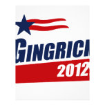 GINGRICH 2012 Banner Personalized Flyer