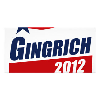 GINGRICH 2012 Banner Customized Photo Card