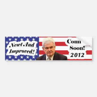 Gingrich 2012 bumper sticker