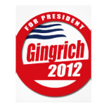 Gingrich 2012 button flyer design