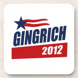 GINGRICH 2012 CAMPAIGN BANNER BEVERAGE COASTERS