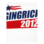 Gingrich 2012 flyer design
