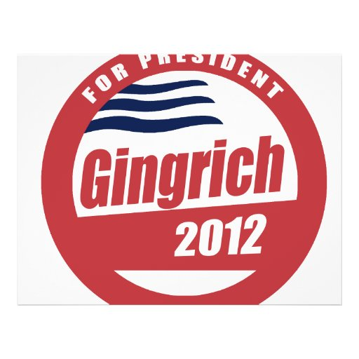 "Gingrich 2012 folleto 8.5"" x 11"""