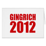 GINGRICH 2012 GREETING CARDS