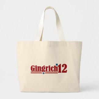 Gingrich 2012 large tote bag