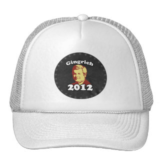 Gingrich 2012 Picture Trucker Hats