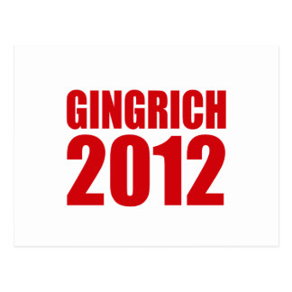 GINGRICH 2012 POST CARD