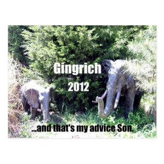 Gingrich 2012 postcard