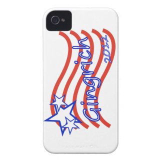 Gingrich 2012 Stripes With 3 Stars Blackberry Bold Cases