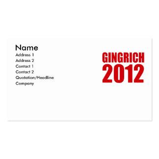 GINGRICH 2012 PLANTILLAS DE TARJETAS PERSONALES