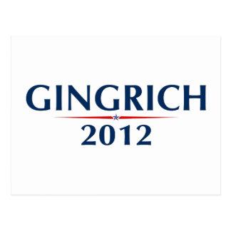 GINGRICH 2012 (v102) Postcard