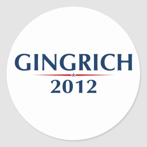 GINGRICH 2012 (v102) Stickers