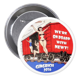 Gingrich 2016 pinback button