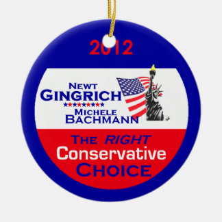 Gingrich Bachmann Ornament