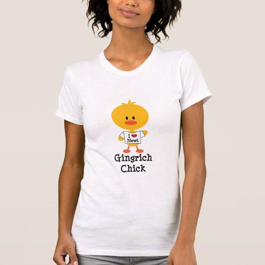 Gingrich Chick Shirt I Heart Newt