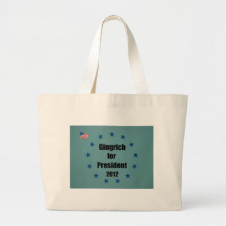 Gingrich for President - 2012 Large Tote Bag