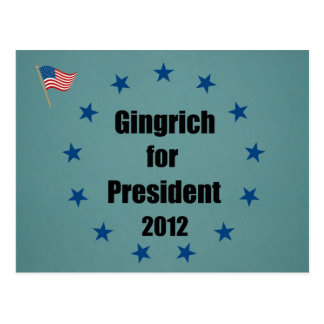 Gingrich for President - 2012 Postcard