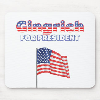 Gingrich for President Patriotic American Flag Mouse Pad