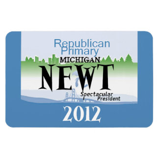 Gingrich MICHIGAN Rectangular Magnet
