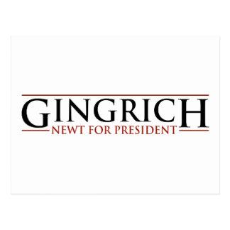 Gingrich - Newt for Presidnet Postcard
