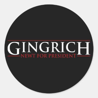 Gingrich - Newt for Presidnet Round Sticker