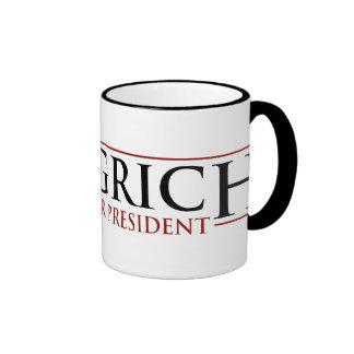 Gingrich - Newt para Presidnet Taza De Dos Colores