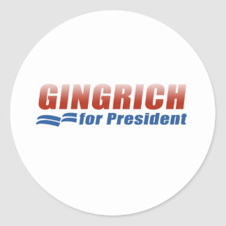 Gingrich para el presidente (2) pegatina redonda