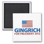 Gingrich para el presidente imán cuadrado