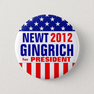 GINGRICH PINBACK BUTTON