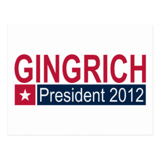 Gingrich President 2012 Post Cards