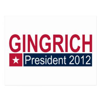 Gingrich President 2012 Postcard