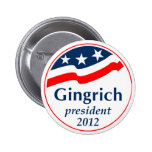 Gingrich President 2012 (v105) Pinback Button