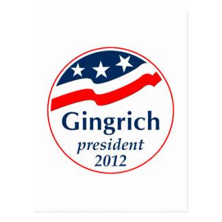 Gingrich President 2012 (v105) Postcard