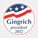 Gingrich President 2012 (v105) Round Sticker