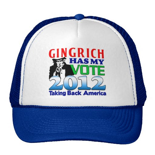 Gingrich tiene mi voto gorros bordados