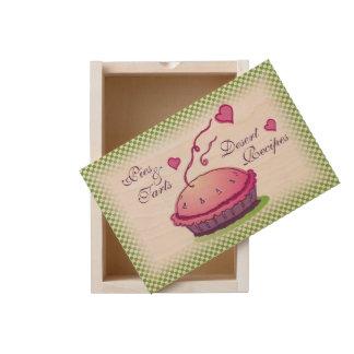 Ginham Green Pies & Tarts Desert Recipes Wooden Keepsake Box