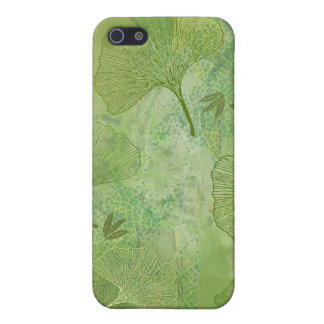 Ginkgo and Bamboo Leaves - Green Colors Cover For iPhone 5