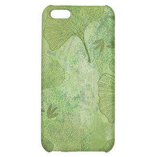 Ginkgo and Bamboo Leaves - Green Colors iPhone 5C Cases
