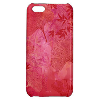 Ginkgo and Bamboo Leaves - Red Colors Case iPhone 5C Case