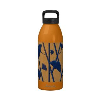 ginkgo azul botellas de agua reutilizables