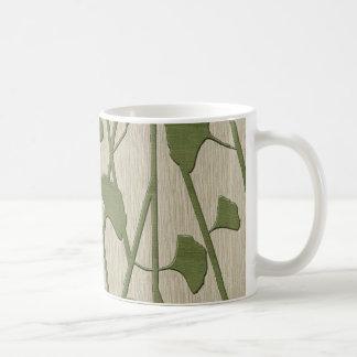 ginkgo biloba classic white coffee mug
