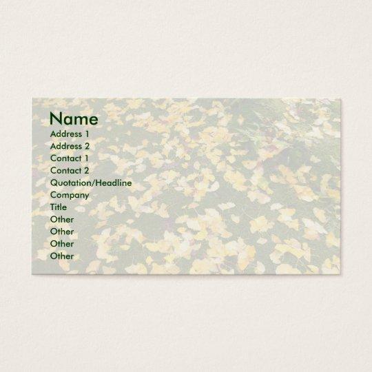 Ginkgo biloba leaves business card
