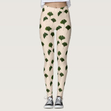 Ginkgo Biloba Leaves Pattern Legging
