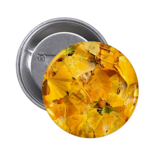 Ginkgo Biloba leaves Pinback Button