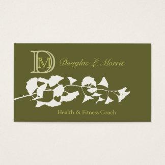 Ginkgo  Biloba Monogrammed Business Card