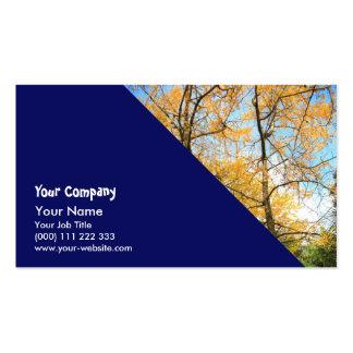 Ginkgo biloba trees business card template