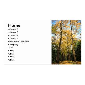 Ginkgo biloba trees business card
